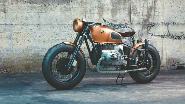 štýlová rýchla BMW motorka
